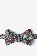 Brown Cotton Kilmun Butterfly Bow Tie
