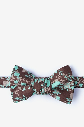 _Kilmun Brown Self-Tie Bow Tie_