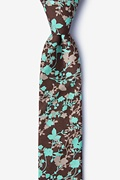 Brown Cotton Kilmun Skinny Tie