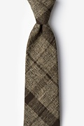 Brown Cotton Kirkland Extra Long Tie