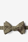 Brown Cotton Kirkland Self-Tie Bow Tie
