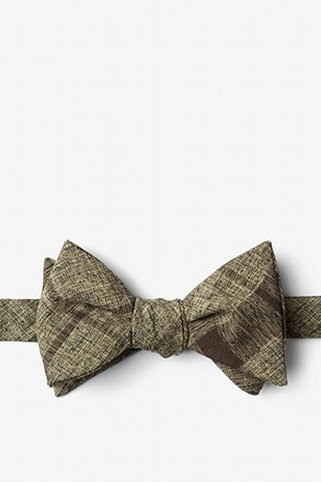 Kirkland Brown Self-Tie Bow Tie