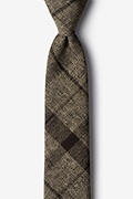 Brown Cotton Kirkland Skinny Tie