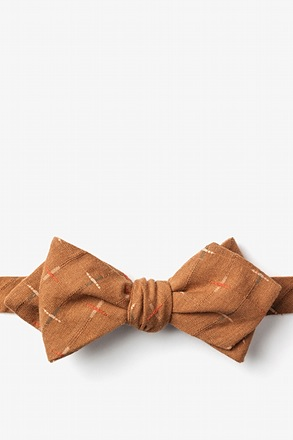La Mesa Brown Diamond Tip Bow Tie