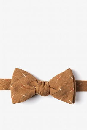 _La Mesa Brown Self-Tie Bow Tie_