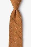 Brown Cotton La Mesa Tie