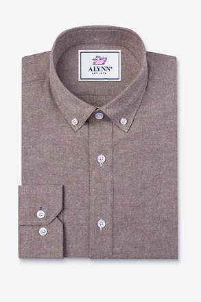 Lucas Brown Slim Fit Casual Shirt