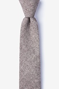 Brown Cotton Niles Skinny Tie