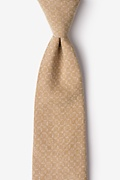 Brown Cotton Nixon Extra Long Tie
