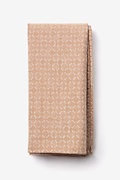 Brown Cotton Nixon Pocket Square