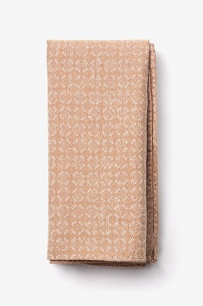 Nixon Brown Pocket Square