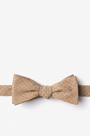 Nixon Brown Skinny Bow Tie