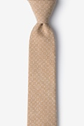 Brown Cotton Nixon Skinny Tie