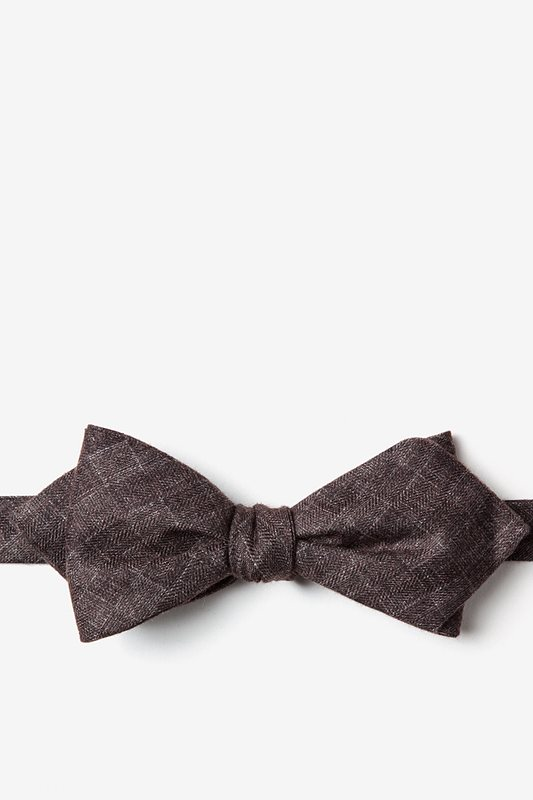 Prescott Brown Diamond Tip Bow Tie Photo (0)