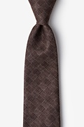 Brown Cotton Prescott Extra Long Tie