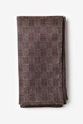 Brown Cotton Prescott Pocket Square