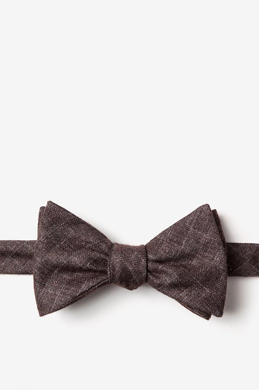 Prescott Brown Self-Tie Bow Tie Photo (0)