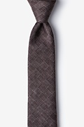 Brown Cotton Prescott Skinny Tie