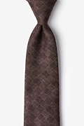 Brown Cotton Prescott Tie