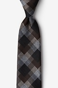 Brown Cotton Richland Extra Long Tie