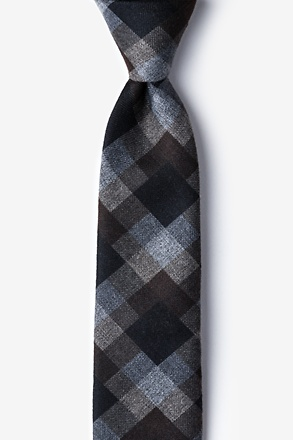 _Richland Brown Skinny Tie_