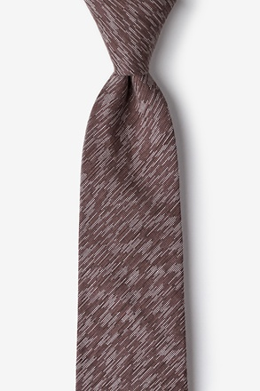 Springfield Brown Extra Long Tie