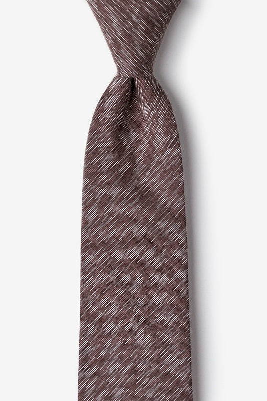 Springfield Brown Extra Long Tie Photo (0)