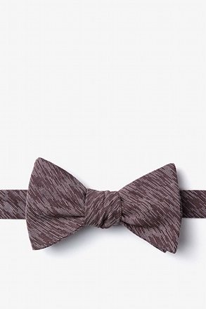 Springfield Brown Self-Tie Bow Tie