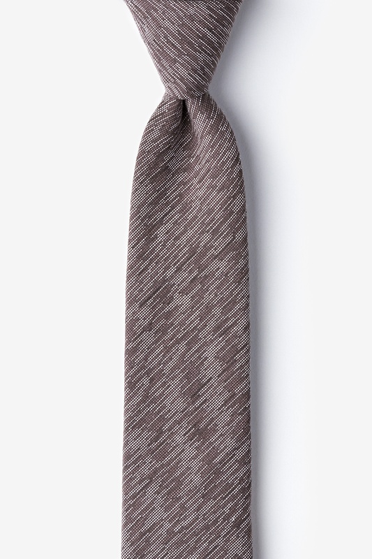 Springfield Brown Skinny Tie Photo (0)