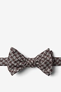 Brown Cotton Tempe Self-Tie Bow Tie