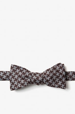 Tempe Brown Skinny Bow Tie