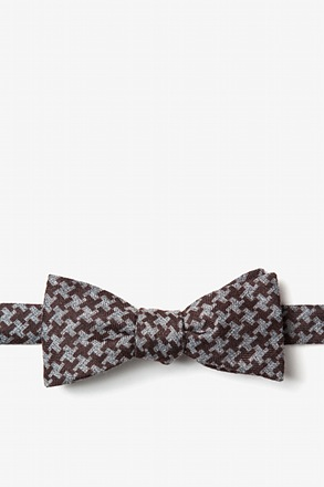 _Tempe Brown Skinny Bow Tie_