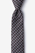 Brown Cotton Tempe Skinny Tie