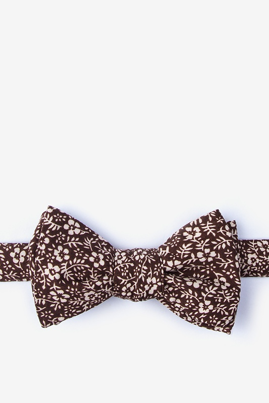 Tohono Brown Self-Tie Bow Tie Photo (0)