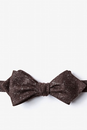 Wilsonville Brown Diamond Tip Bow Tie