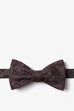 _Wilsonville Brown Self-Tie Bow Tie_