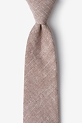 Brown Cotton Wortham Extra Long Tie