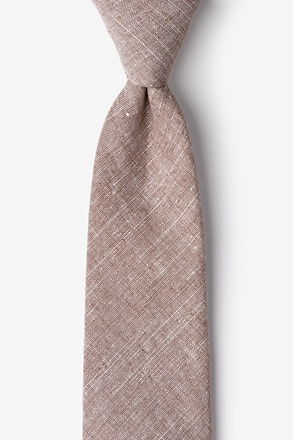 _Wortham Brown Extra Long Tie_