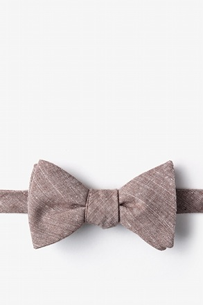 _Wortham Brown Self-Tie Bow Tie_