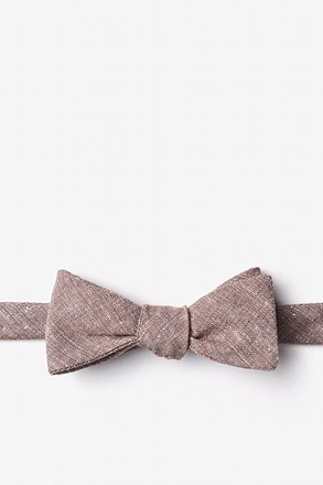 Wortham Brown Skinny Bow Tie