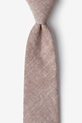 Brown Cotton Wortham Tie