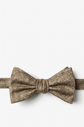 Yuma Brown Self-Tie Bow Tie