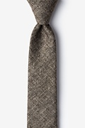Brown Cotton Yuma Skinny Tie
