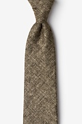 Brown Cotton Yuma Tie