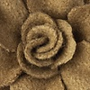 Brown Felt Begonia Lapel Pin