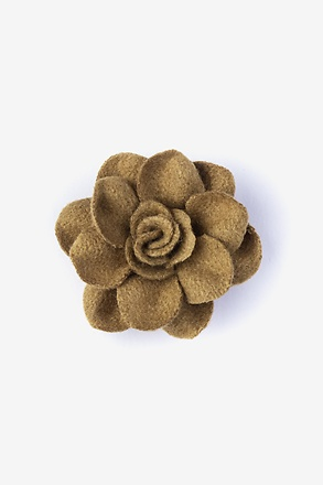 Begonia Brown Lapel Pin