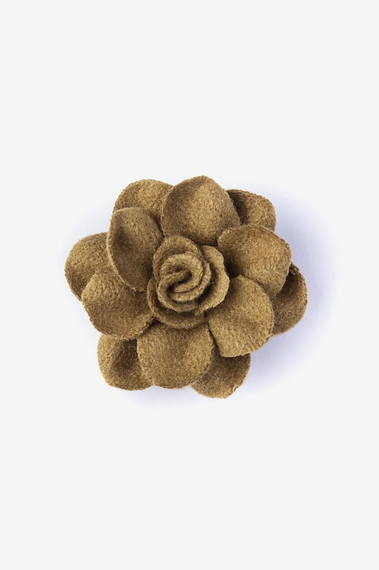 Begonia Brown Lapel Pin Photo (0)
