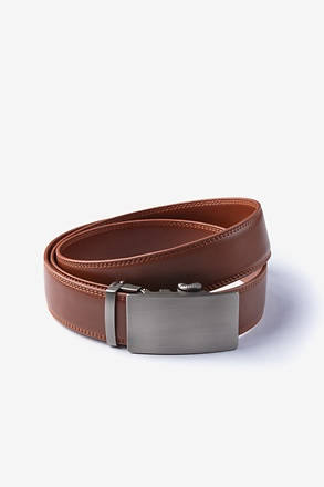 Premium Leather Micro-Fit Slide Brown Belt