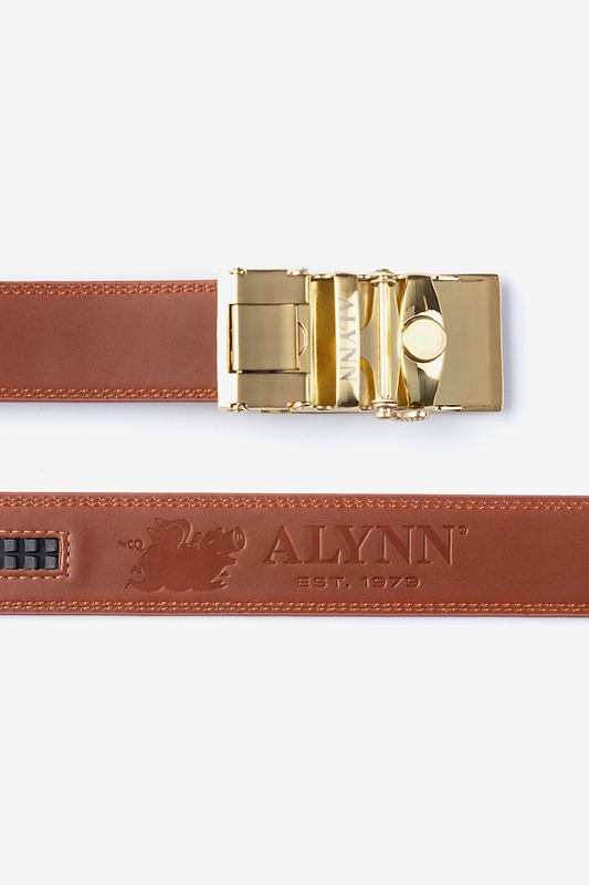 Premium Leather Micro-Fit Slide Brown Belt Photo (1)