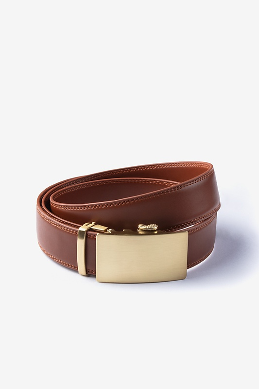 Premium Leather Micro-Fit Slide Brown Belt Photo (0)